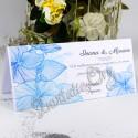 Plic de bani cu flori de hibiscus bleu