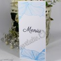 Meniu elegant cu flori de hibiscus bleu