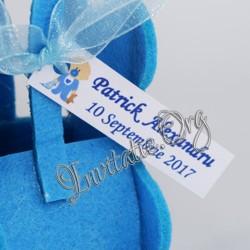 Eticheta Botez cu bebelus bleu
