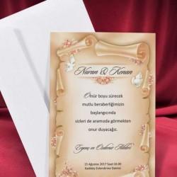 "Invitatie de nunta vintage ""Papirus"""