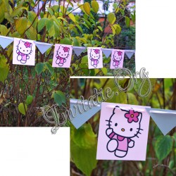 Ghirlanda Botez Steag cu Hello Kitty