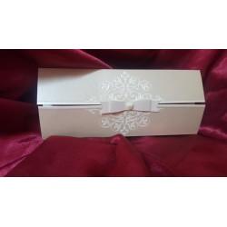 Invitatie de Nunta eleganta cu funda si perla 407