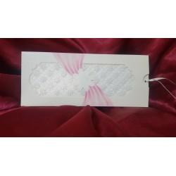 Invitatie de Nunta Eleganta cu Sclipici si Flori 422