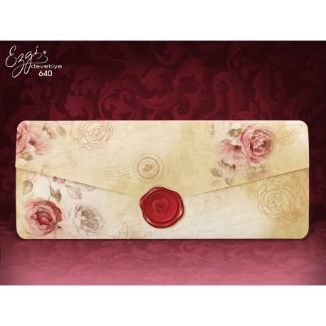 Invitatii Nunta Elegante Cu Model Vintage Trandafiri Si Pecete 640