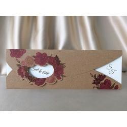Invitatie de Nunta Eleganta cu model Floral 94056