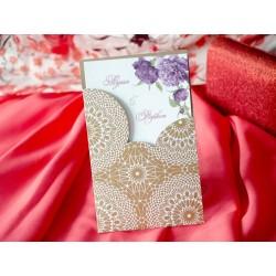 Invitatie de Nunta Deosebita cu Model Floral Bujor 94080
