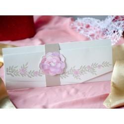 Invitatie de Nunta cu Model Floral roz Elegant 94091