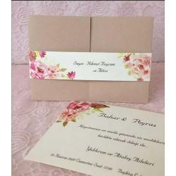 Invitatie de Nunta cu Model Floral Acuarela 94095