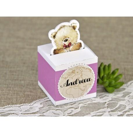 Marturie Botez Haioasa Cutiuta roz cu Ursulet 4614