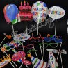 Accesorii Photo - Masti si Mesaje pe Bat - Happy Birthday