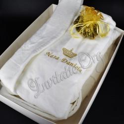 Halat Brodat Coroana Regala Nasa - Cadou Personalizat