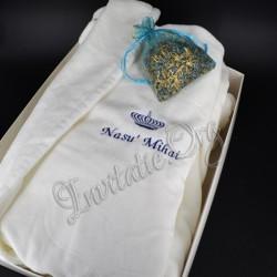 Halat Brodat Coroana Regala Nas - Cadou Personalizat