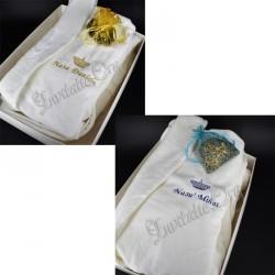 Halat Brodat Coroana Regala pentru Nasi - Cadou Personalizat