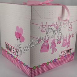 Cutie de trusou Botez Baby Girl pink