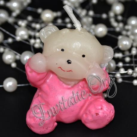 Marturie Botez Haioasa Ursulet Bebelus roz Lumanare