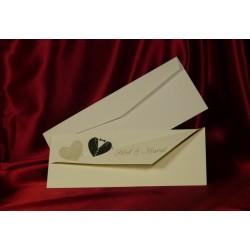 Invitatie de nunta cu inimioare 487