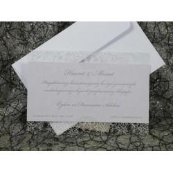 Invitatie de nunta cu model floral 491