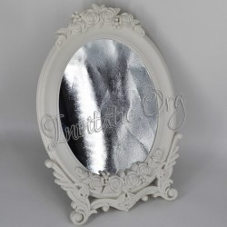 Oglinda pentru Gatitul Miresei cu Trandafiri vintage in relief