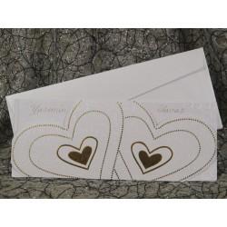 Invitatie de nunta cu inimioare argintii 501