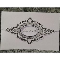 Invitatie de nunta vintage 506