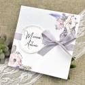 Invitatie de Nunta cu Motiv Floral Elegant 39613