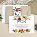 Invitatie de Nunta cu Motiv Floral 39614