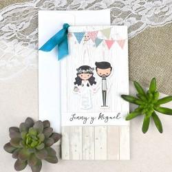 Invitatie de Nunta Elegante cu Miri 39631