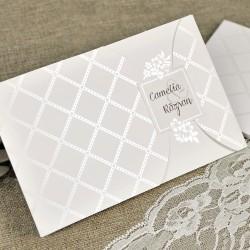 Invitatie de Nunta Eleganta cu model Floral simplu 39643