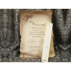 Invitatie de nunta papirus vintage 528