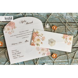 Invitatie de nunta cu model Floral Elegant 70266