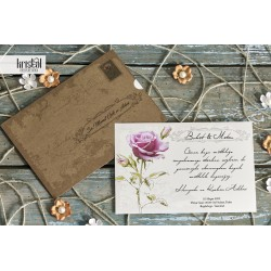 Invitatie de Nunta Eleganta cu Trandafir 70273