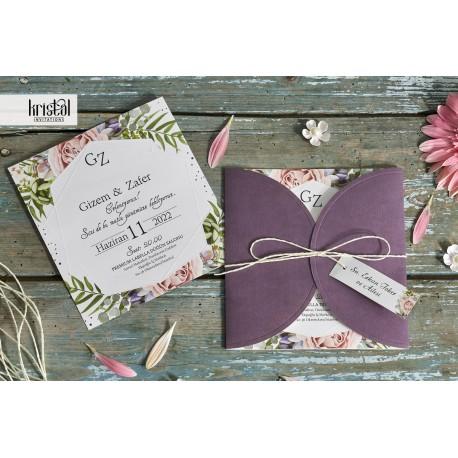Invitatie de Nunta cu flori Pastel 70295