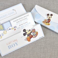 Invitatie de Botez cu Mickey Mouse jucandu-se 15719