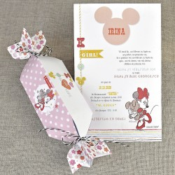Invitatie de Botez Papirus Minnie Mouse in Bomboana 15720