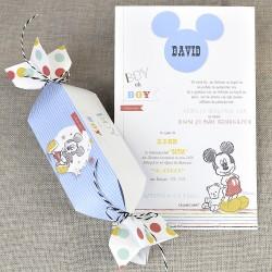 Invitatie de Botez Papirus Mickey Mouse in Bomboana 15721