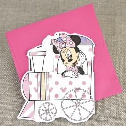Invitatie de Botez Disney Trenulet cu Minnie Mouse si Daisy Duck 15722