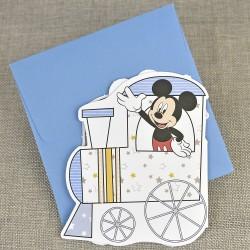 Invitatie de Botez Disney tren cu Mickey Mouse Pluto si Donald Duck 15723