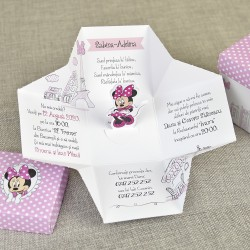 Invitatie de Botez Cutiuta design Minnie Mouse in Paris 15728