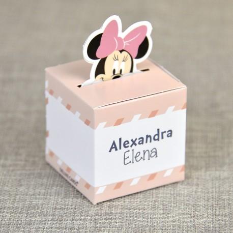 Marturii Botez Haioase Colorate Fetite Cutiuta Cu Minnie Mouse 4701
