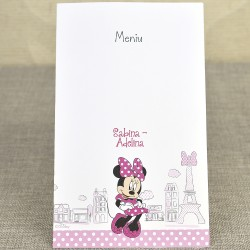 Meniu Botez Disney cu Minnie Mouse si Turnul Eiffel 3728