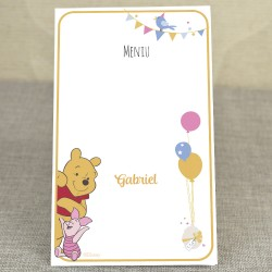 Meniu Botez Disney cu Ursuletul Haios Winnie the Pooh 3729