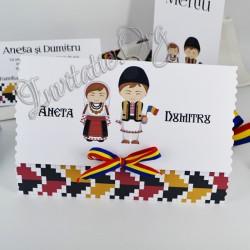 Invitatie Deosebita cu Miri Traditionali si tricolor