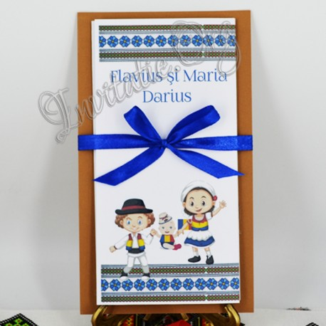 Invitatie Traditionala Nunta Si Botez Baietel