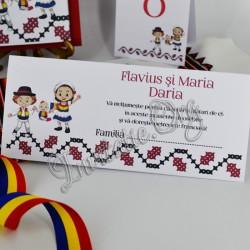 Plic de Bani Traditional Nunta si Botez Fetita