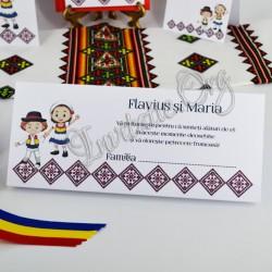 Plic de Bani Traditional Nunta cu Miri imbracati in Tricolor