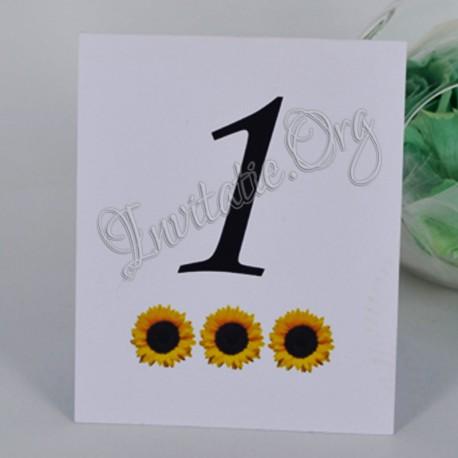 Numar de Masa Deosebit cu Floarea Soarelui