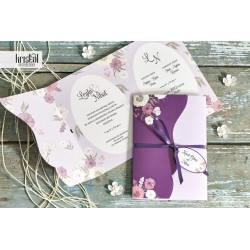 Invitatie de Nunta Eleganta cu Model Floral 70341