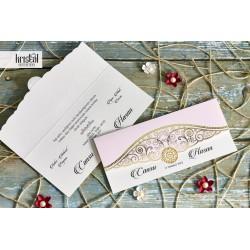 Invitatie de Nunta Eleganta cu Model Auriu 70348