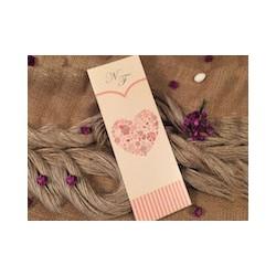 Invitatie de Nunta Eleganta cu Inima Florala 30349