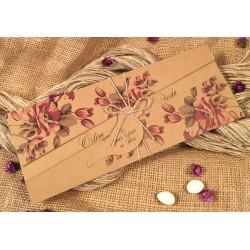 Invitatie de Nunta cu Model Floral Elegant 52524